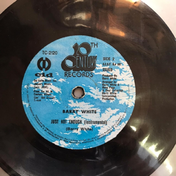 Single De Vinil Usado - Barry White - Can´T Get Enough Of Your Love / Just Not Enough