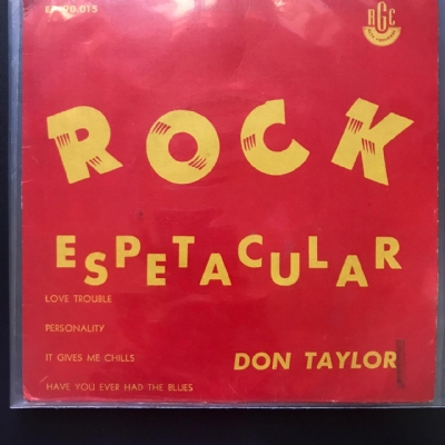 Single De Vinil Usado - Don Taylor - Love Trouble / Personality / It Gives Me Chills / Have You Ever Had The Blues