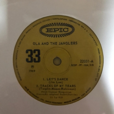 Single De Vinil Usado - Ola & The Janglers - Let´S Dance/Track Of My Tears / What A Way To Die / Oh What A Lovely Day