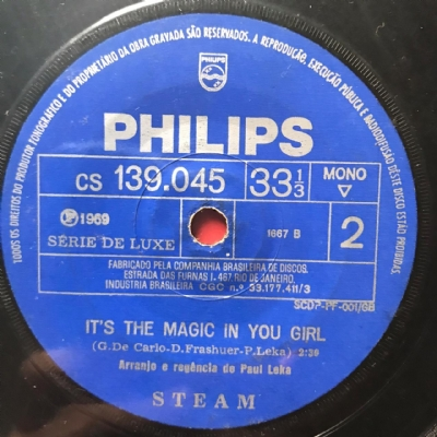 Single De Vinil Usado - Steam - Na Na Hey Hey / It´S The Magic In You Girl