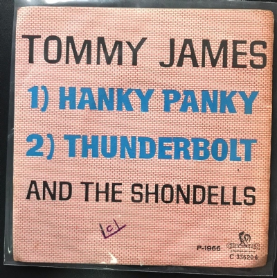 Single De Vinil Usado - Tommy James And The Shondells - Hanky Panky / Thunderbolt