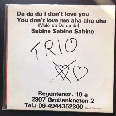 Single De Vinil Usado - Trio - Da Da Da I Don´t Love You / Sabine Sabine Sabine