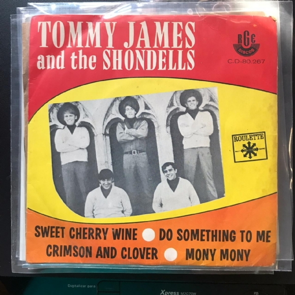 Single De Vinil Usado - Tommy James And The Shondells - Crimson And Clover / Mony Mony / Sweet Cherry Wine / Do Something To Me