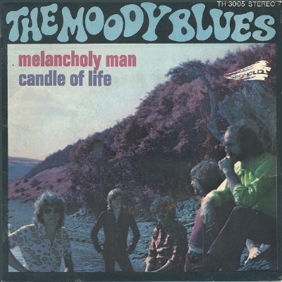 Single De Vinil Usado - The Moody Blues - Melancholy Man / Candle Of Love