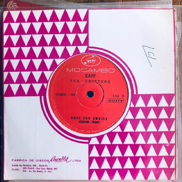 Single De Vinil Usado - The Critters - Younger Girl / Gone For Awhile