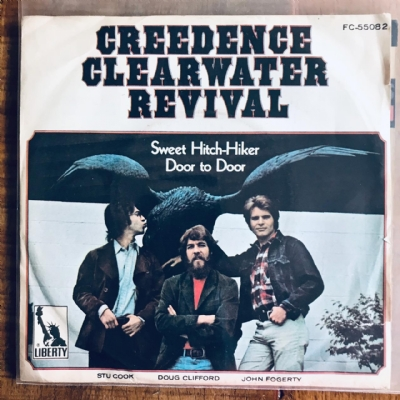 Single De Vinil Usado - Creedence Clearwater Revival - Sweet Hitch-Hiker / Door To Door