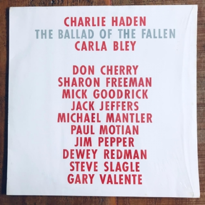 Disco De Vinil Usado - Charlie Haden - The Ballad Of The Fallen Lp