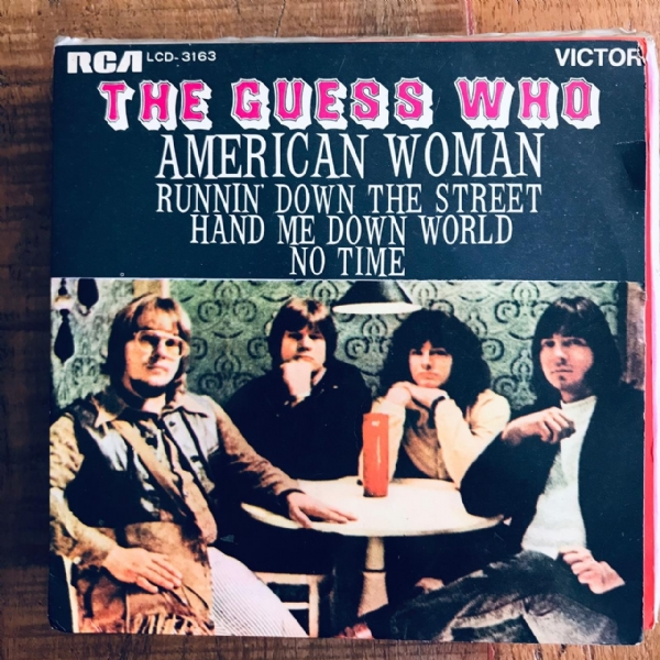 Single De Vinil Usado - Guess Who - American Woman/Runnin´Down The Street/Hand Me Down World/No Time