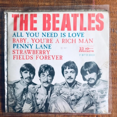 Single De Vinil Usado - The Beatles - All You Need Is Love/Baby You´Re A Rich Man/Penny Lane/Strawberry Fields