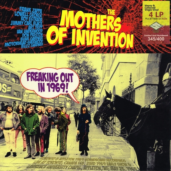 Disco De Vinil Novo -  Frank Zappa & The Mothers Of Invention - Freaking Out In 1969! 04 LP 03 CD Box Set