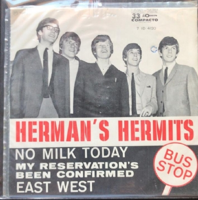 Single De Vinil Usado - Herman´s Hermits - No Milk Today / My Reservation´s / Bus Stop / East West