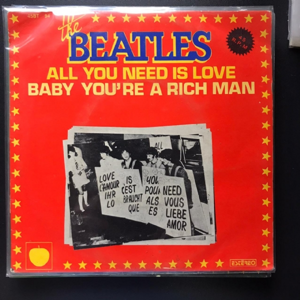 Single De Vinil Usado - The Beatles - All You Need Is Love / Baby You´Re A Rich Man