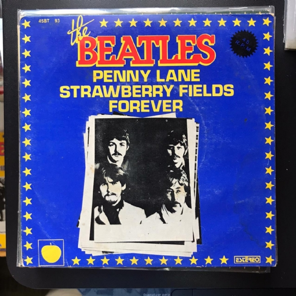 Single De Vinil Usado - The Beatles - Penny Lane / Strawberry Fields Forever
