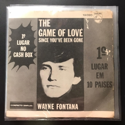 Single De Vinil Usado - Wayne Fontana - The Game Of Love/ Since You´Ve Been Gone