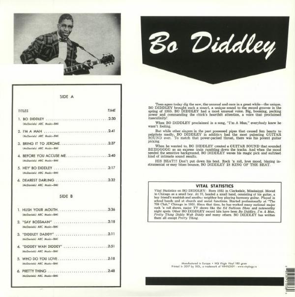 DISCO DE VINIL NOVO - BO DIDDLEY - BO DIDDLEY 1958 LP 180 G