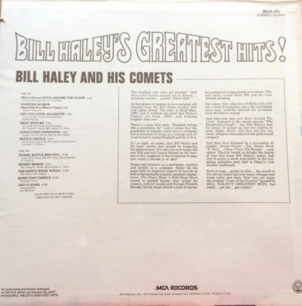 DISCO DE VINIL NOVO - BILL HALEY AND HIS COMETS - BILL HALEY´S GREATEST HITS! LP IMG-1154772