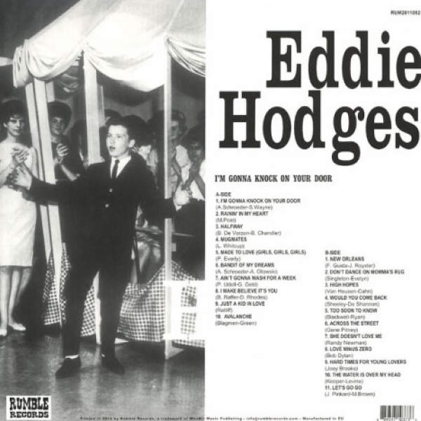 DISCO DE VINIL NOVO - EDDIE HODGES - I´M GONNA KNOCK ON YOUR DOOR LP