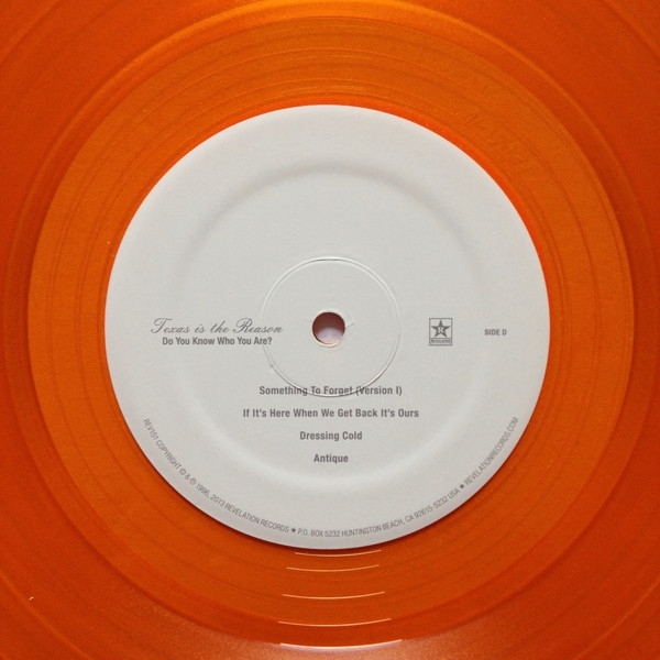 DISCO DE VINIL NOVO - TEXAS IS THE REASON - DO YOU KNOW WHO YOU ARE? LP DUPLO COLORIDO
