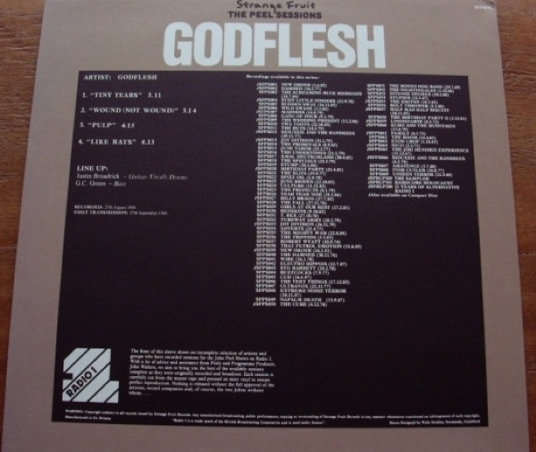DISCO DE VINIL NOVO - GODFLESH - THE PEEL SESSIONS LP IMG-1160412
