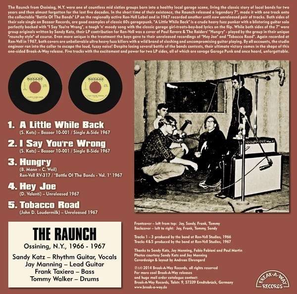 DISCO DE VINIL NOVO - THE RAUNCH - TOTAL RAUNCH LP 180 G IMG-1160928