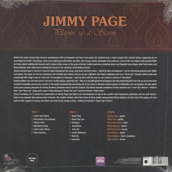 DISCO DE VINIL NOVO - JIMMY PAGE - PLAYIN´UP A STORM LP COLORIDO IMG-1264585