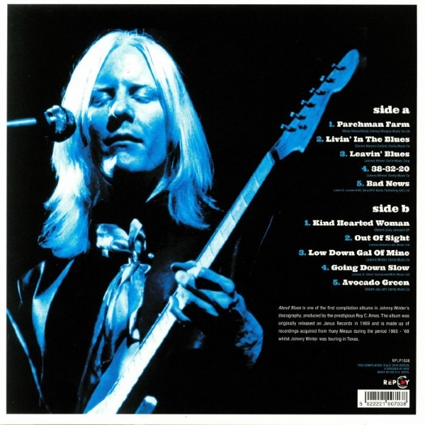 DISCO DE VINIL NOVO - JOHNNY WINTER - ABOUT BLUES LP 180 G IMG-1308550