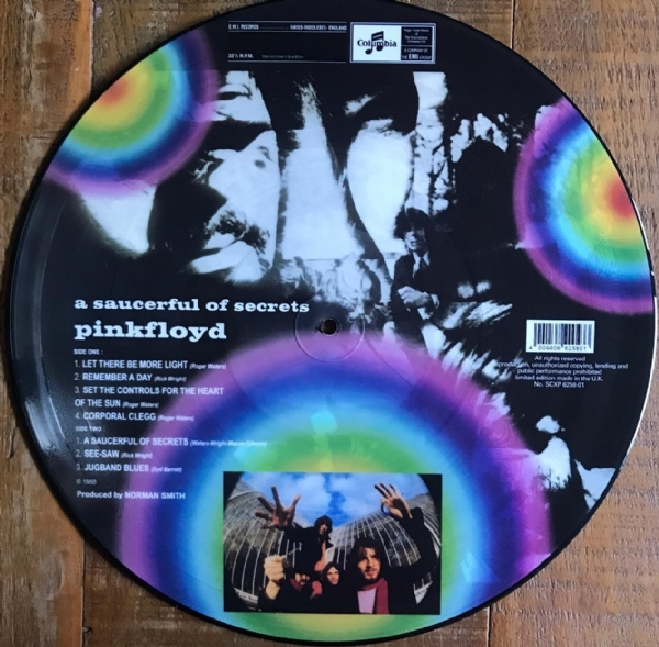DISCO DE VINIL NOVO - PINK FLOYD - A SAUCERFUL OF SECRETS LP PICTURE DISC IMG-1366597