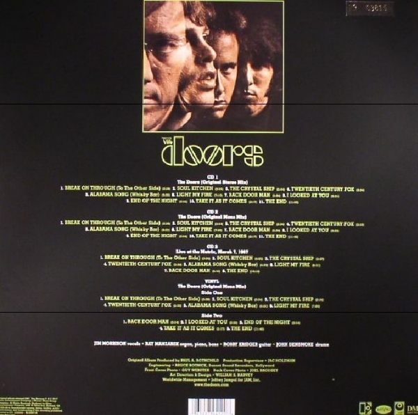 DISCO DE VINIL NOVO - THE DOORS - THE DOORS 50TH ANNIVERSARY 01 LP 03 CD BOX SET IMG-1392800