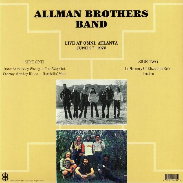 DISCO DE VINIL NOVO - THE ALLMAN BROTHERS BAND - LIVE AT OMINI 1973 LP 180 G IMG-1385748