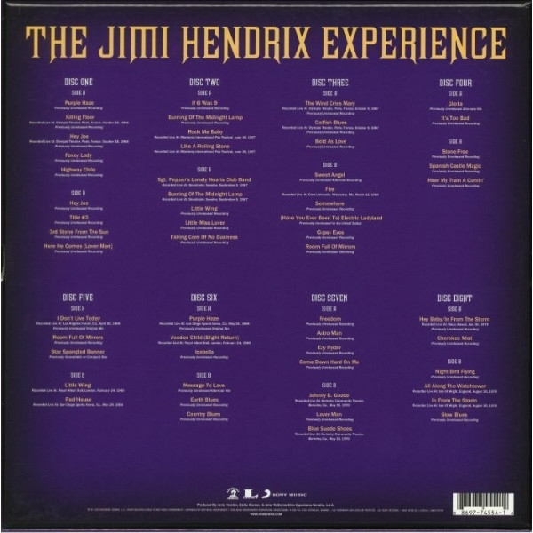 DISCO DE VINIL NOVO - THE JIMI HENDRIX EXPERIENCE - THE JIMI HENDRIX EXPERIENCE BOX SET 08 LP 180 G IMG-1420426