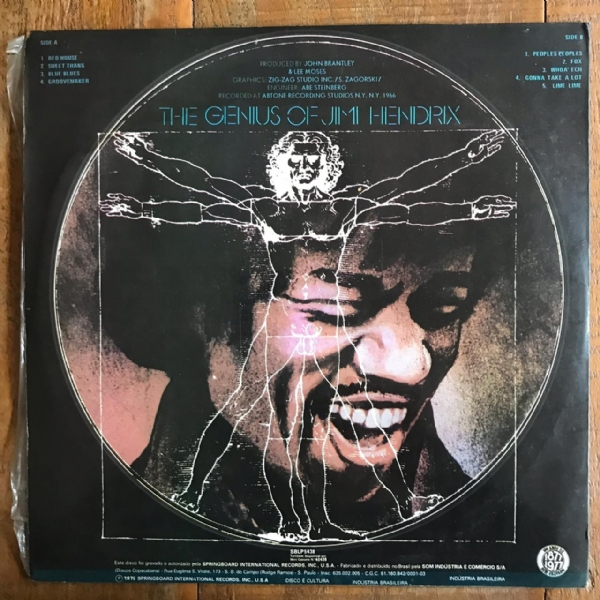 DISCO DE VINIL USADO - JIMI HENDRIX - THE GENIUS OF LP IMG-1483157