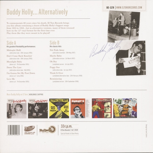 DISCO DE VINIL NOVO - BUDDY HOLLY - ALTERNATIVELY LP 180 G COLORIDO IMG-1544465