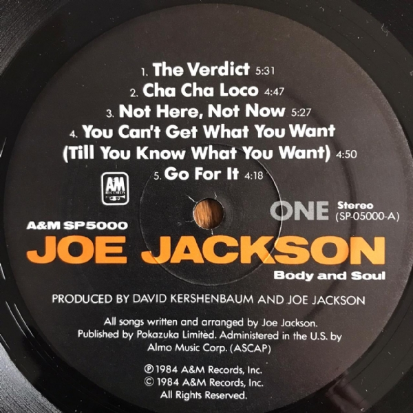 Disco de vinil usado - Joe Jackson - Body And Soul LP IMG-1647188