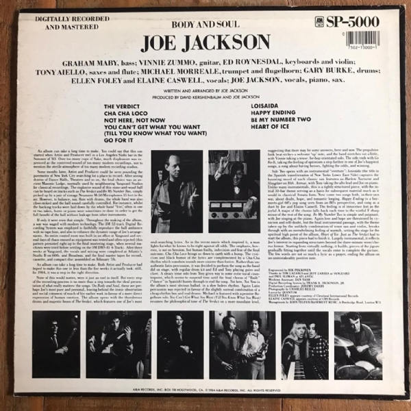 Disco de vinil usado - Joe Jackson - Body And Soul LP IMG-1647189
