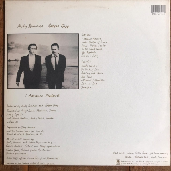 Disco de vinil usado - Andy Summers & Robert Fripp - I Advance Masked Lp IMG-1661459
