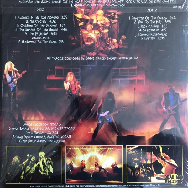 Disco De Vinil Novo - Iron Maiden - Live at the Palladium New York 1982 lp 180 g IMG-1663813