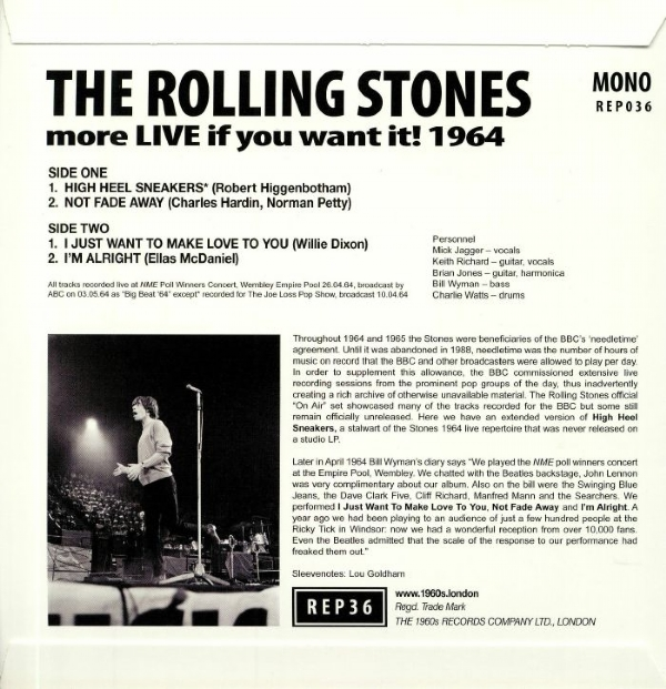 Disco de vinil novo - The Rolling Stones - More Live If You Want It! 1964 EP IMG-1676031