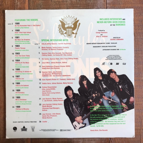Laser Disc - Ramones - Lifestyles Of IMG-1700149