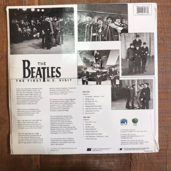 Laser Disc - The Beatles - The First U.S. Visit IMG-1700148