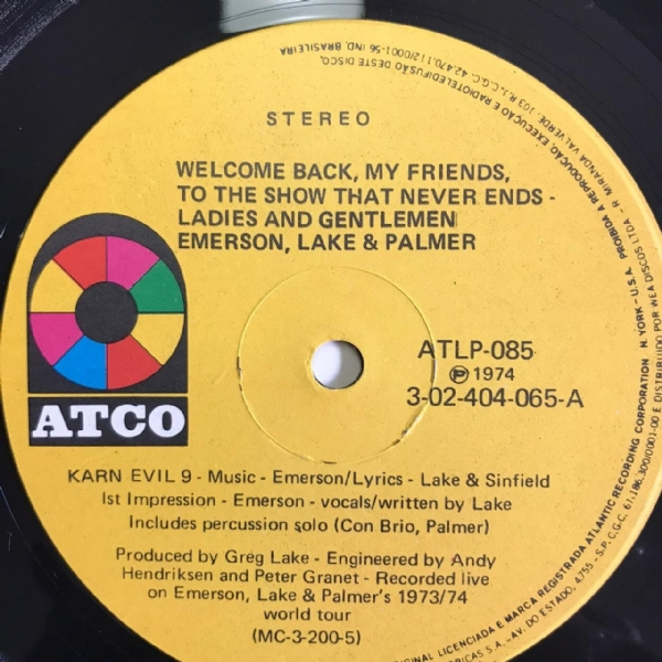 Disco de vinil usado - Emerson, Lake & Palmer - Welcome Back My Friends To The Show That Never Ends Lp Triplo IMG-1700910