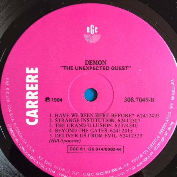 Disco de vinil usado - Demon - The Unexpected Guest Lp IMG-1704968