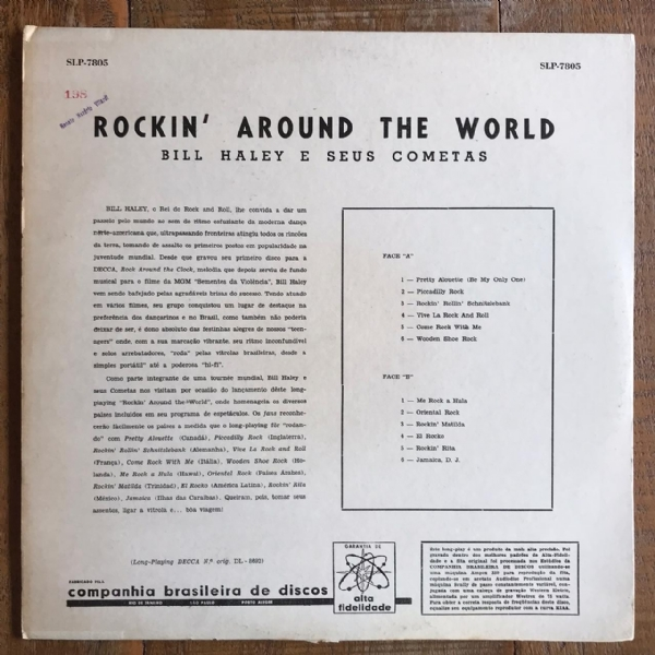 Disco De Vinil Usado - Bill Haley E Seus Cometas - Rockin´Around The World Lp IMG-1706660