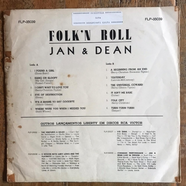 Disco de vinil usado - Jan & Dean - Folk´n roll Lp IMG-1711970