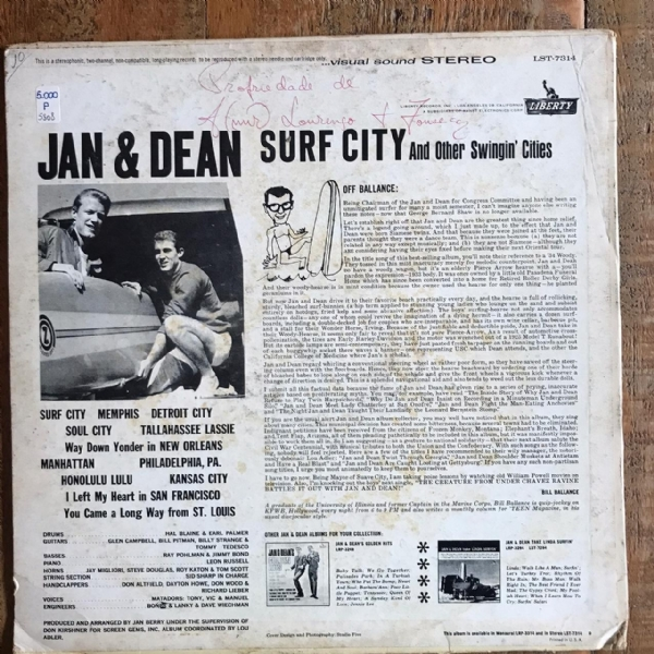 Disco de vinil usado - Jan & Dean - Surf City And Other Swingin´ Cities Lp IMG-1711975