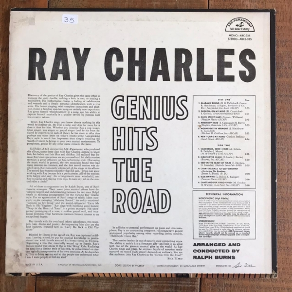 Disco de vinil usado - Ray Charles - The Genius Hits The Road Lp IMG-1714481