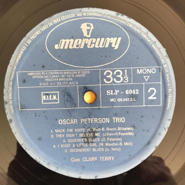Disco de vinil usado - The Oscar Peterson Trio - With Clark Terry Lp IMG-1714507