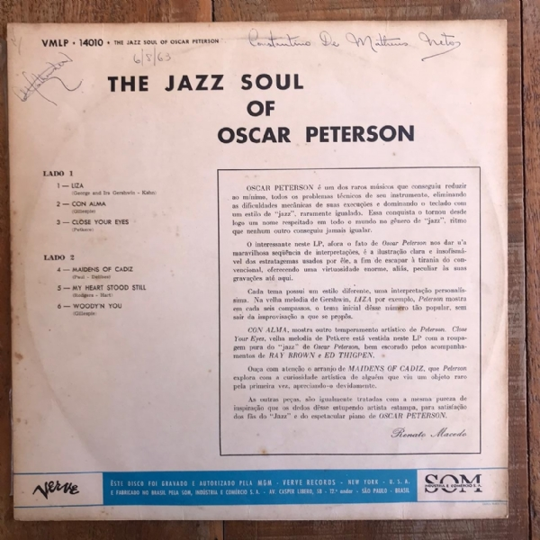 Disco de vinil usado - Oscar Peterson - The Jazz Soul Of Lp IMG-1730384