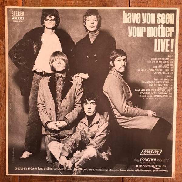 Disco de vinil usado - The Rolling Stones - Have You Seen Your Mother LIVE! Lp IMG-1736798