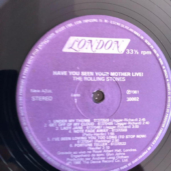 Disco de vinil usado - The Rolling Stones - Have You Seen Your Mother LIVE! Lp IMG-1736799