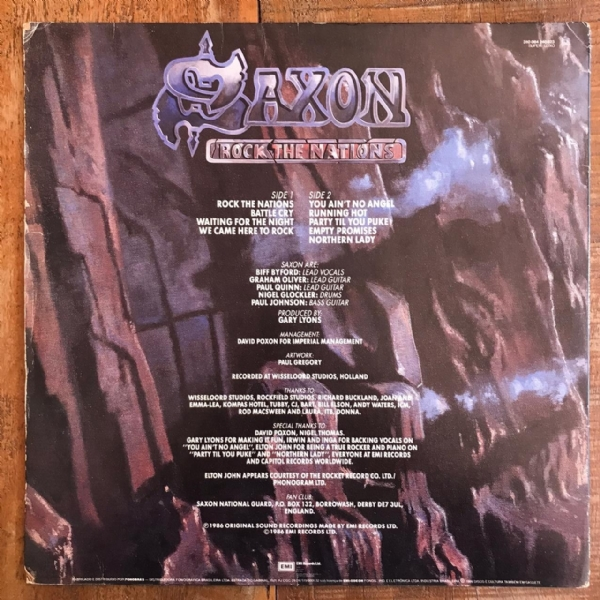 Disco de vinil usado - Saxon - Rock The Nations Lp IMG-1736855